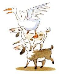 Animals from Farmer Kobi's Hanukkah Match